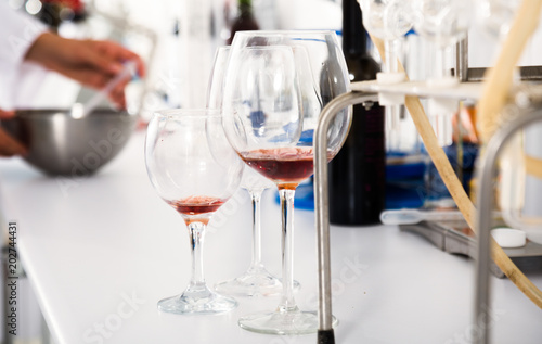 organoleptic characteristic for wine in laboratory of wunery of spain