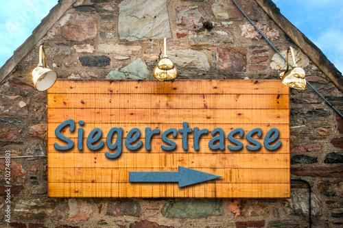 Schild 303 - Siegerstrasse