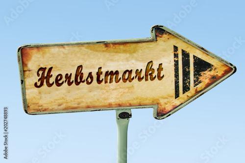 Schild 328 - Herbstmarkt