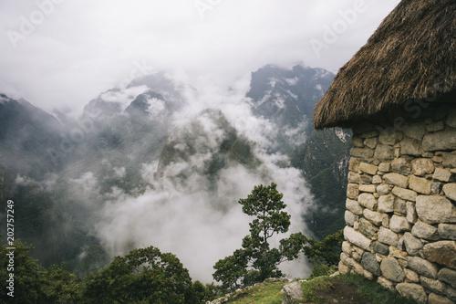 Stony house at Machu Picchu, Peru