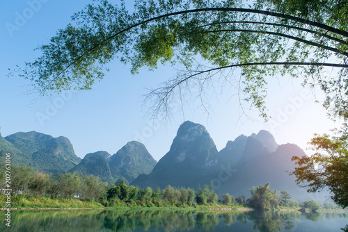 Aluminium Guilin landscape in Yangshuo Guilin, China