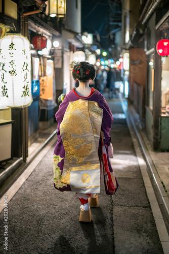 Plexiglas Kyoto Japanische Maiko im Gion Viertel in Kyoto, Japan