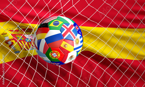 soccer football ball soccer shot on goal 3d illustration