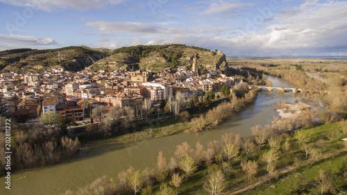 Peralta village in Navarre province, Spain