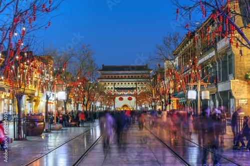 Fototapeta Qianmen street, Beijing, China