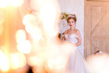 wedding photosession of the bride in photo studio - 202819022
