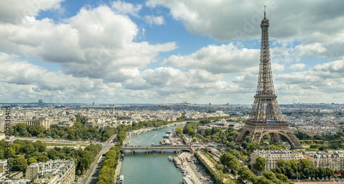 Fridge magnet Beautiful Panorama of Paris Skyline