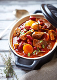 Beef goulash with mushrooms and vegetables - 202836221