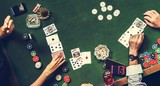 Group of people playing gambling together - 202839497