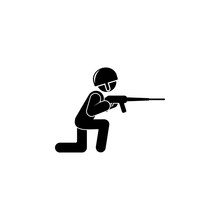 Soldier  A Gun Illustration Element Of Army Icon For Mobile Concept And Web Apps Detailed Soldier  A Gun Illustration Can Be Used For Web And Mobile Premium Icon Sticker