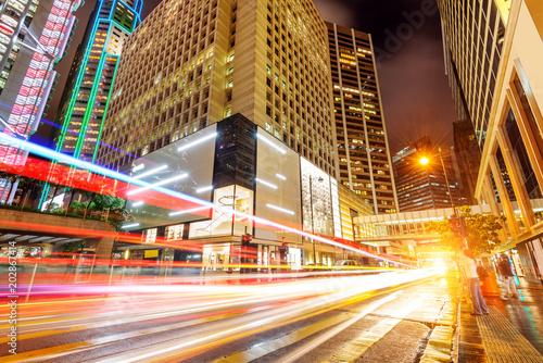 Fototapeta modern city at night