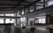 Elegant office interior. Mixed media