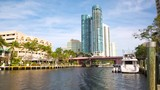 Fort Lauderdale skyline view along New River - 202871208