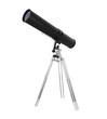 Black Telescope Isolated