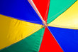 Leinwanddruck Bild - Beach Umbrella undersurface colourful. Trip tropical beah holidays theme wallpaper