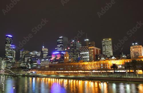 Melbourne skyline over Yarra river