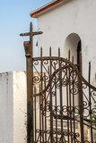Wrought iron gate of an orthodox church, Creece - 202897221