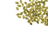 Pumpkin seeds isolated on white background, top view - 202897491