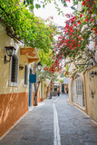 Pedestrian street in the old town of Rethymno in Crete, Greece - 202898069