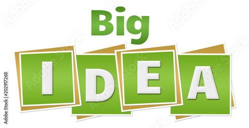 Big Idea Green Squares Text