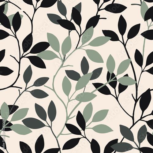 Naklejka Summer leaves pattern