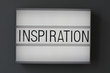 Inspiration word in billboard