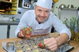 dessert chef at work - 202929266