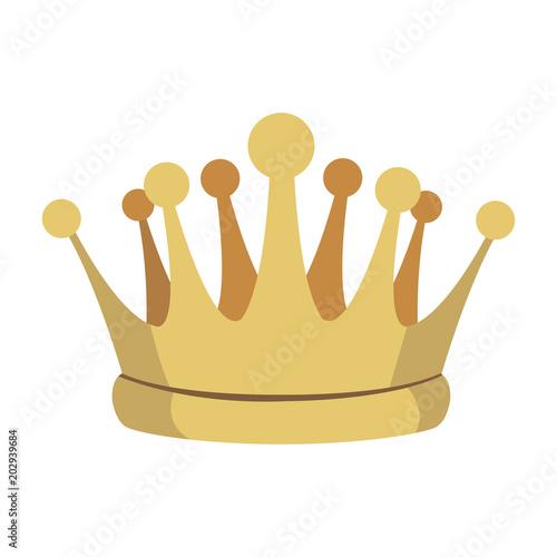 King crown symbol vector illustration graphic design