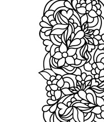 floral border on white background