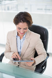 Content businesswoman using tablet - 202963457