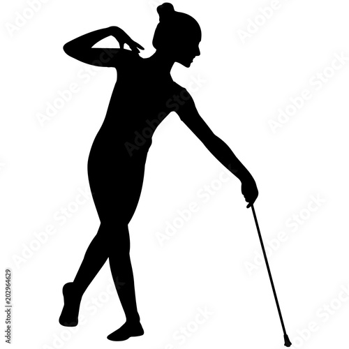 Baton Twirling Silhouette Girls Baton Twirling Clipart Female