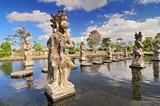 Statue at the Tirtagangga Water Palace in Bali, Indonesia. - 202991484