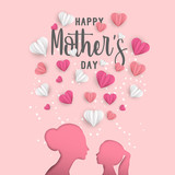 Mother day greeting card for family holiday love