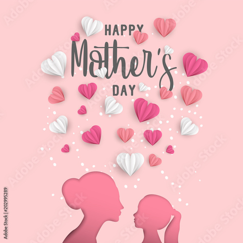 Mother day greeting card for family holiday love © cienpiesnf