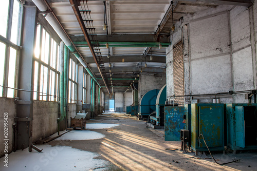 Plexiglas Moskou Moscow, Russia - January 2015: The territory of the factory Likhachev Plant (ZIL) in winter