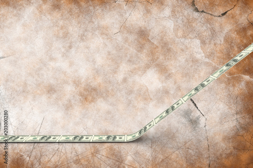 Dollar road against brown background