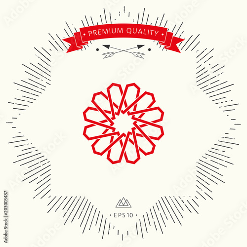 Traditional geometric oriental arabic pattern. Element for your design. Logo
