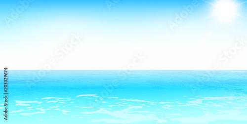 Plexiglas Turkoois 海 夏 風景 背景