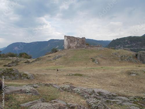 Aluminium Cappuccino Burg Ruine Gebirge