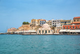 Venitian habor of Chania in Crete, Grece - 203058205