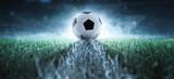 Fototapeta Sport - Anstoß - Fußball - Spielfeld © m.mphoto