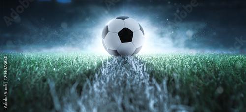 canvas print picture Anstoß - Fußball - Spielfeld