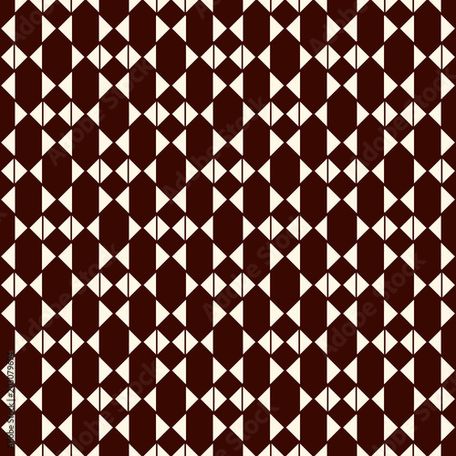 Repeated mini triangles on white background. Simple abstract wallpaper. Seamless pattern design with geometric figures.