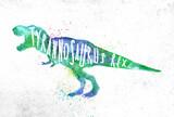 Dynosaur tyranosaurus vivid - 203085895