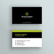elegant modern business card vector design - 203094082