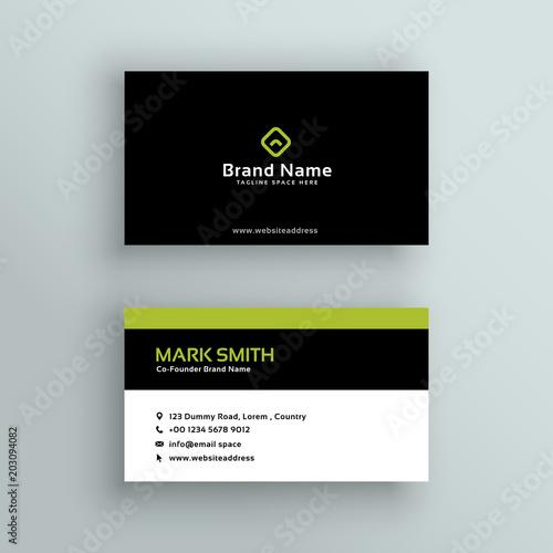 Wall mural elegant modern business card vector design