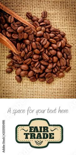 uczciwego-handlu-grafika-przeciw-drewnianej-lopacie-z-kawa