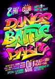 Dance battle party poster concept