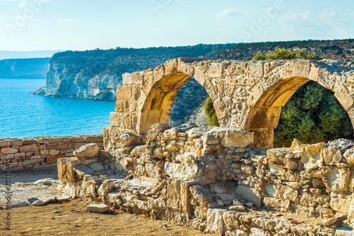 Plexiglas Cyprus Kourion archaeological site, ruins of ancient town, Cyprus, Limassol district