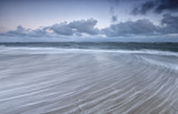 blurred wave motion on North sea - 203142692
